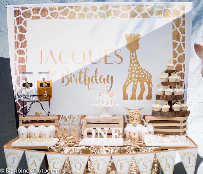 Sophie the Giraffe 1st Birthday Party on Kara's Party Ideas | KarasPartyIdeas.com (17)