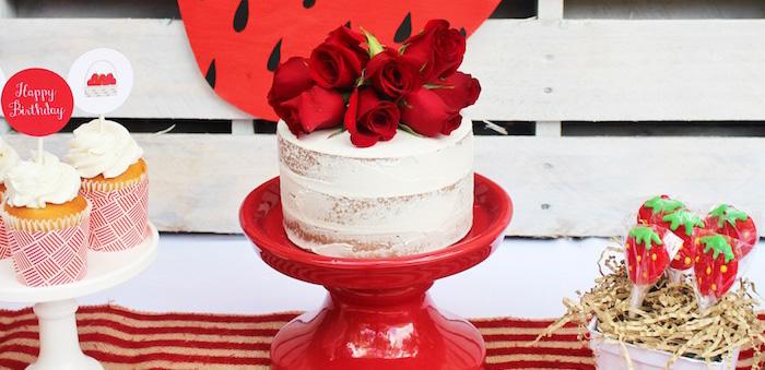 Sweet Strawberry Birthday Party on Kara's Party Ideas | KarasPartyIdeas.com (2)