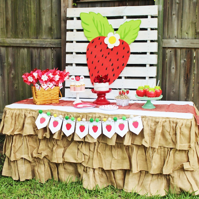 Sweet Strawberry Birthday Party on Kara's Party Ideas | KarasPartyIdeas.com (15)