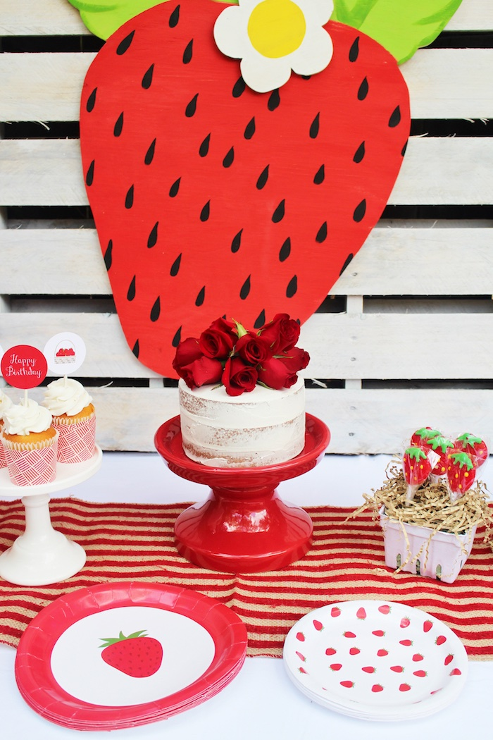 Sweet Strawberry Birthday Party on Kara's Party Ideas | KarasPartyIdeas.com (10)