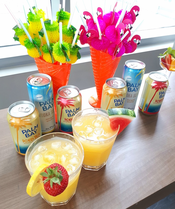 Drinks from a Tropical Bridal Shower on Kara's Party Ideas | KarasPartyIdeas.com (12)