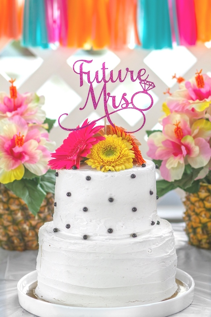 Cake from a Tropical Bridal Shower on Kara's Party Ideas | KarasPartyIdeas.com (7)