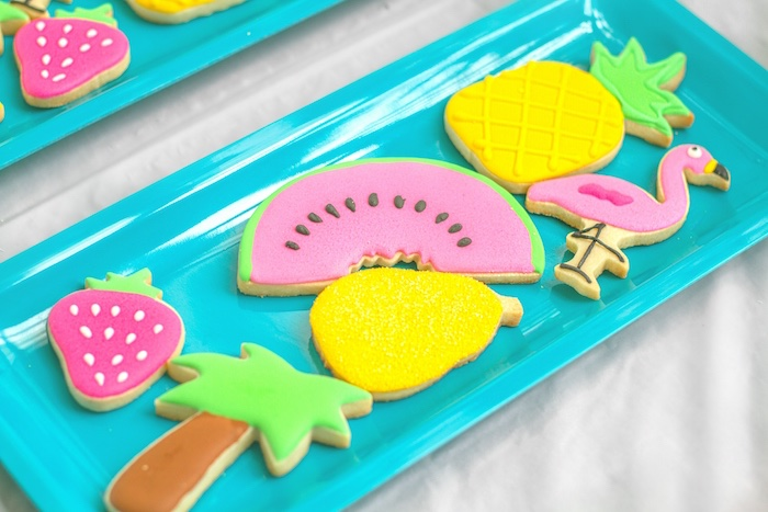 Tropical cookies from a Tropical Bridal Shower on Kara's Party Ideas | KarasPartyIdeas.com (5)