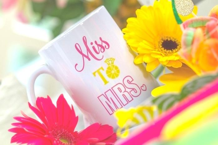 Custom mug from a Tropical Bridal Shower on Kara's Party Ideas | KarasPartyIdeas.com (21)