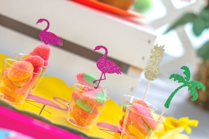 Candy cups from a Tropical Bridal Shower on Kara's Party Ideas | KarasPartyIdeas.com (20)