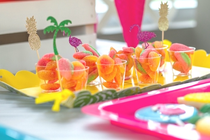 Candy cups from a Tropical Bridal Shower on Kara's Party Ideas | KarasPartyIdeas.com (19)