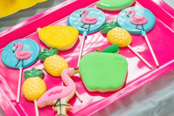 Tropical Sugar Cookies from a Tropical Bridal Shower on Kara's Party Ideas | KarasPartyIdeas.com (17)