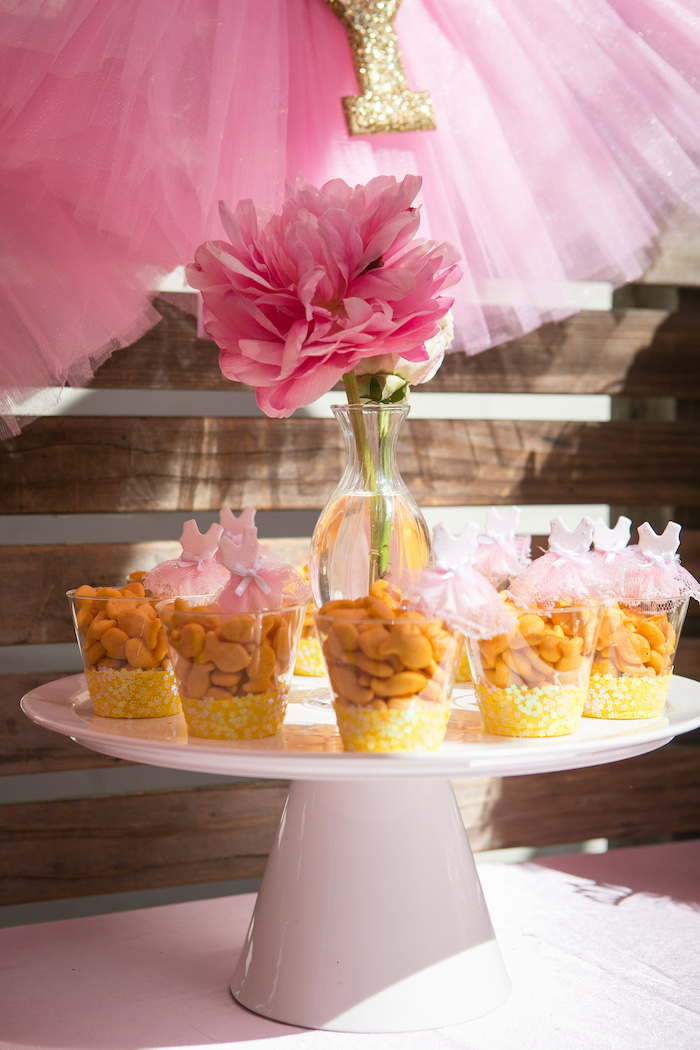 Snack cups from a Tutu Cute 2nd Birthday on Kara's Party Ideas | KarasPartyIdeas.com (7)