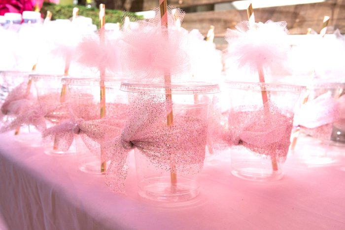 Ballet drink cups from a Tutu Cute 2nd Birthday on Kara's Party Ideas | KarasPartyIdeas.com (5)