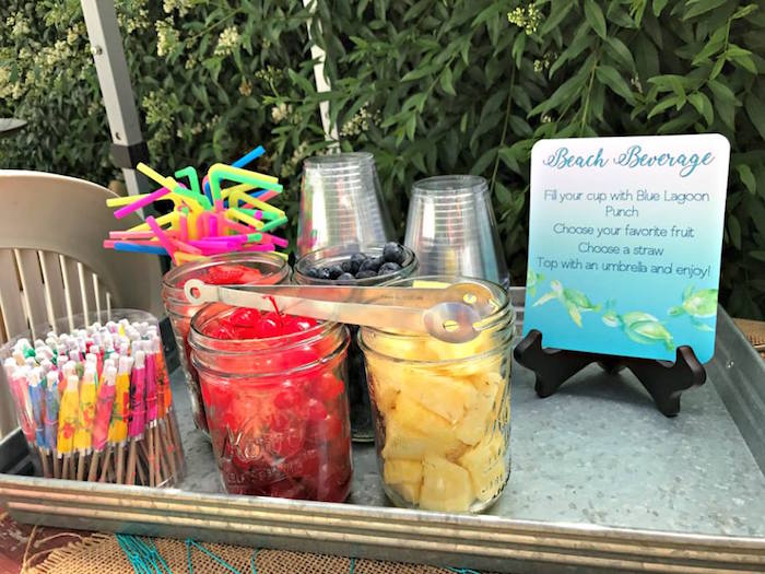 Beach beverage from an Under the Sea Birthday Pool Party on Kara's Party Ideas | KarasPartyIdeas.com (9)