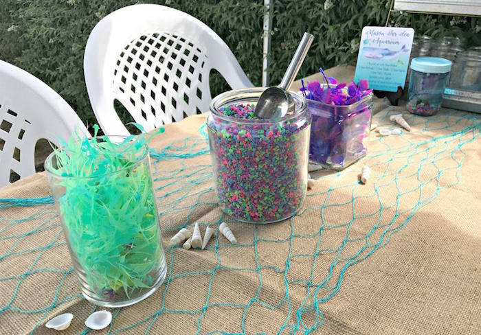Aquarium supplies from an Under the Sea Birthday Pool Party on Kara's Party Ideas | KarasPartyIdeas.com (5)