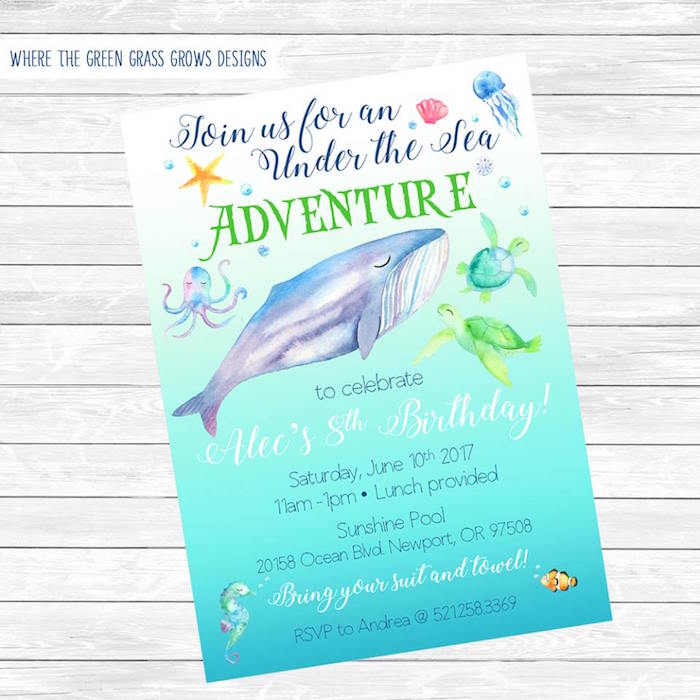 Invitation from an Under the Sea Birthday Pool Party on Kara's Party Ideas | KarasPartyIdeas.com (18)