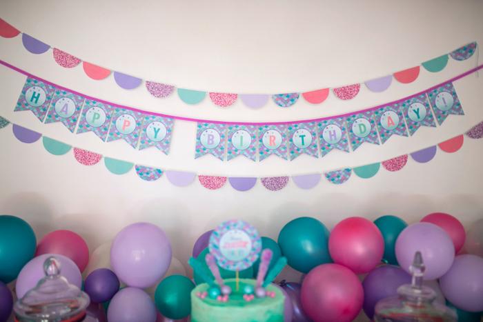 Banners from an Under the Sea Mermaid Birthday Party on Kara's Party Ideas | KarasPartyIdeas.com (21)