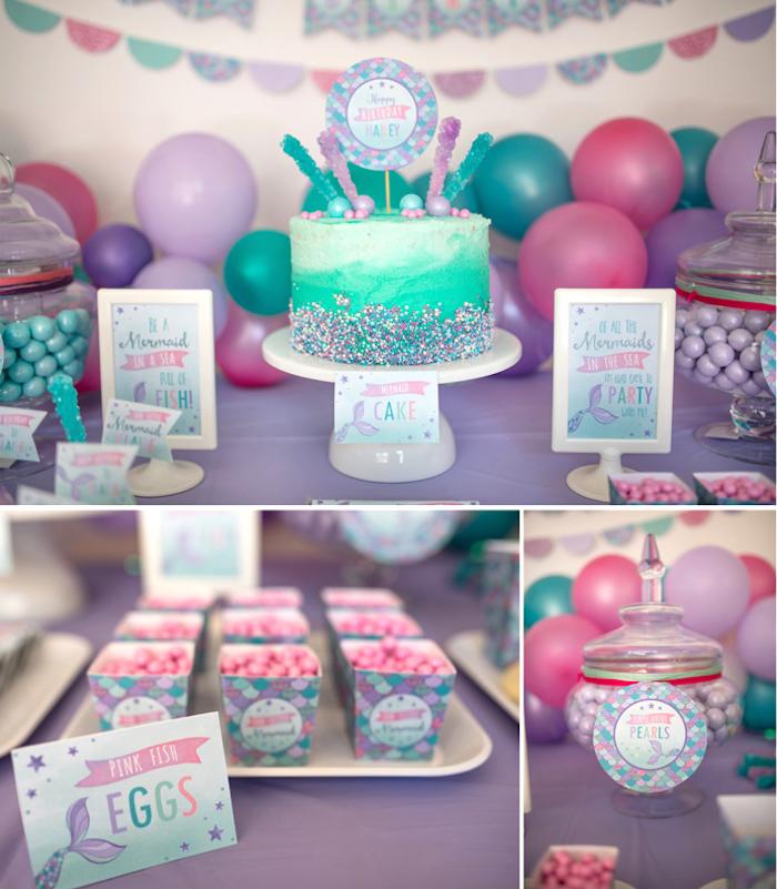 Under the Sea Mermaid Birthday Party on Kara's Party Ideas | KarasPartyIdeas.com (34)