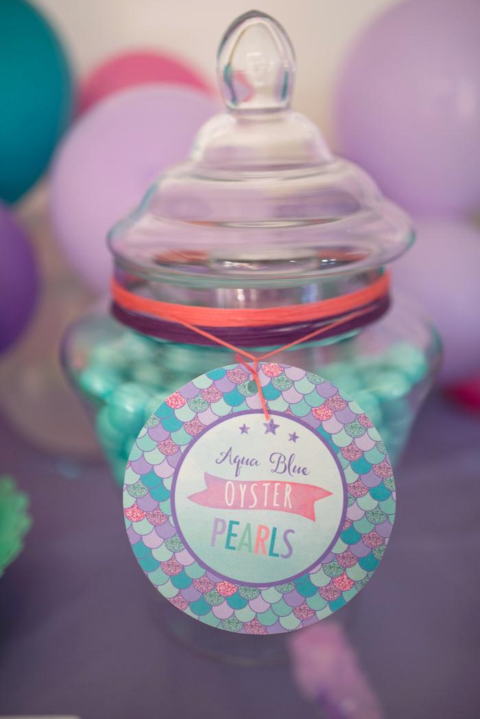 Aqua Blue Oyster Pearls from an Under the Sea Mermaid Birthday Party on Kara's Party Ideas | KarasPartyIdeas.com (26)