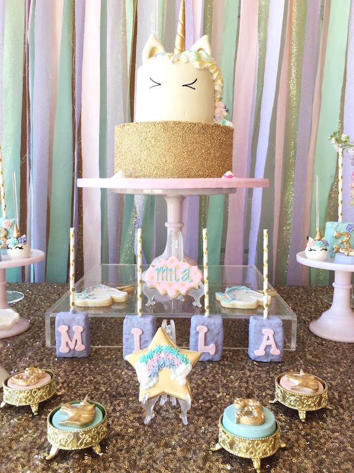 Unicorn Cake from a Unicorn 3rd Birthday Party on Kara's Party Ideas | KarasPartyIdeas.com (7)