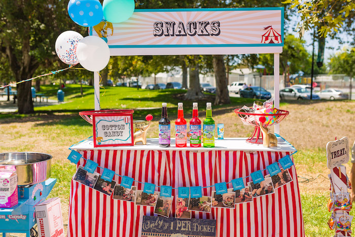 Snack stand from a Circus Birthday Party on Kara's Party Ideas | KarasPartyIdeas.com (9)