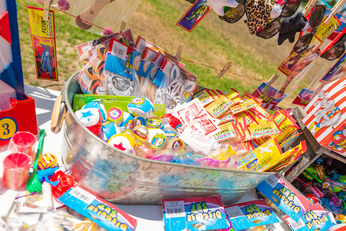 Prize bin from a Circus Birthday Party on Kara's Party Ideas | KarasPartyIdeas.com (28)