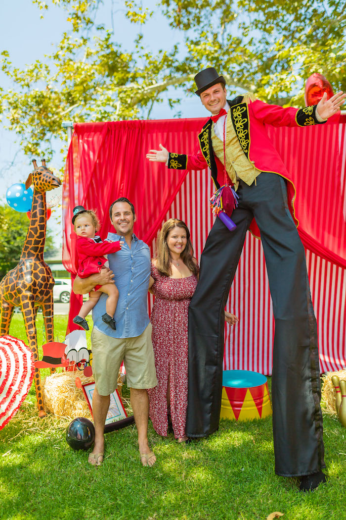 Circus photo booth from a Circus Birthday Party on Kara's Party Ideas | KarasPartyIdeas.com (24)