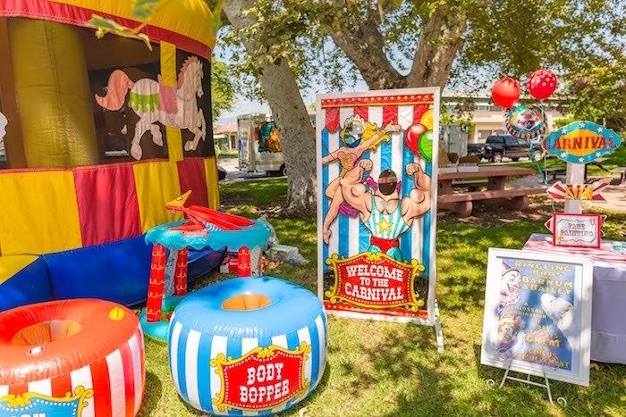 Carnival activities from a Circus Birthday Party on Kara's Party Ideas | KarasPartyIdeas.com (23)