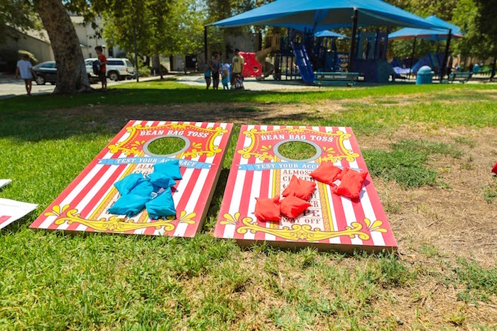 Bean Bag Toss from a Circus Birthday Party on Kara's Party Ideas | KarasPartyIdeas.com (31)