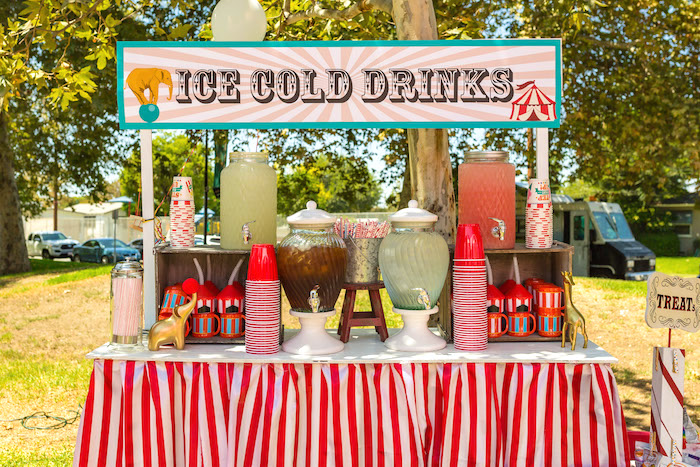 Ice Cold Drink Stand from a Circus Birthday Party on Kara's Party Ideas | KarasPartyIdeas.com (19)