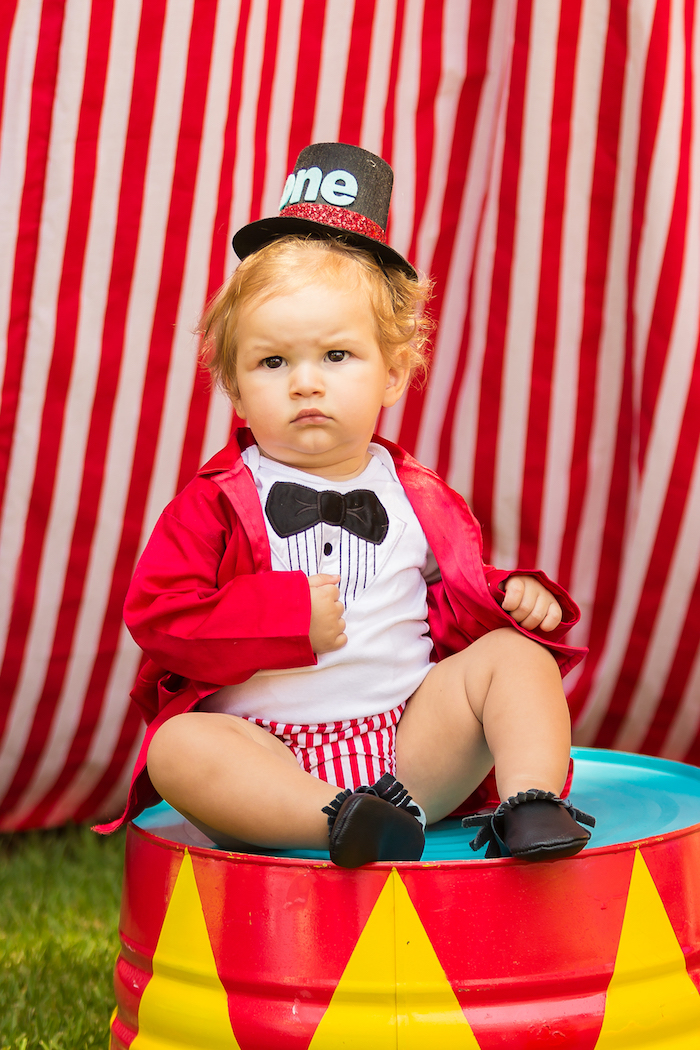 Little Ringmaster from a Circus Birthday Party on Kara's Party Ideas | KarasPartyIdeas.com (30)