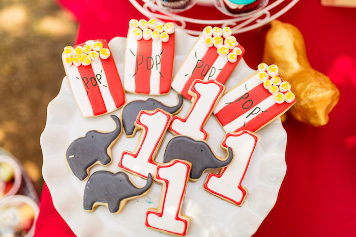 Circus cookies from a Circus Birthday Party on Kara's Party Ideas | KarasPartyIdeas.com (16)