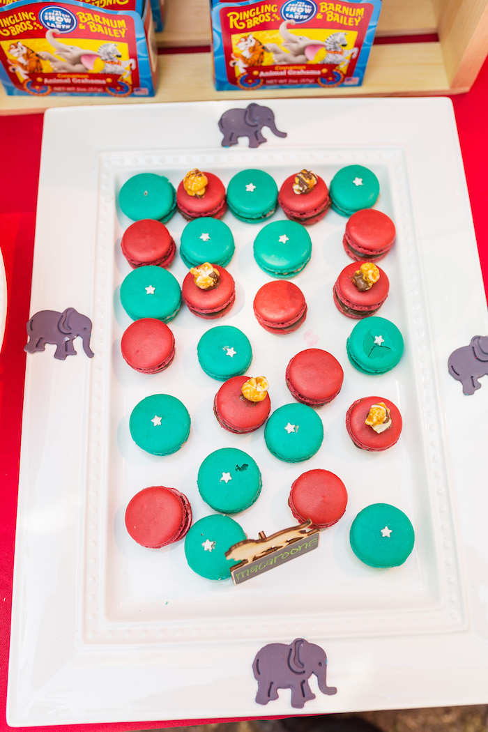 Circus macarons from a Circus Birthday Party on Kara's Party Ideas | KarasPartyIdeas.com (15)