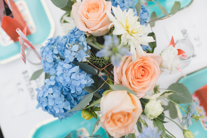 "Blooms from a ""Dumb & Dumber"" Inspired ""Cute & Cuter"" Twins Birthday Party on Kara's Party Ideas 