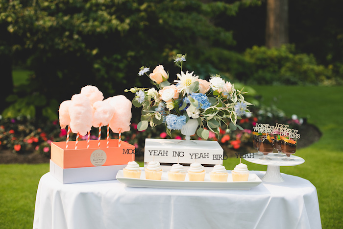 "Sweet Table from a ""Dumb & Dumber"" Inspired ""Cute & Cuter"" Twins Birthday Party on Kara's Party Ideas 