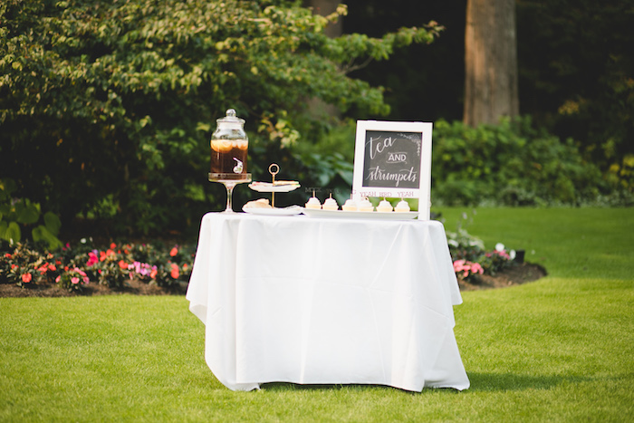 """Tea and Strumpets"" Table from a ""Dumb & Dumber"" Inspired ""Cute & Cuter"" Twins Birthday Party on Kara's Party Ideas 
