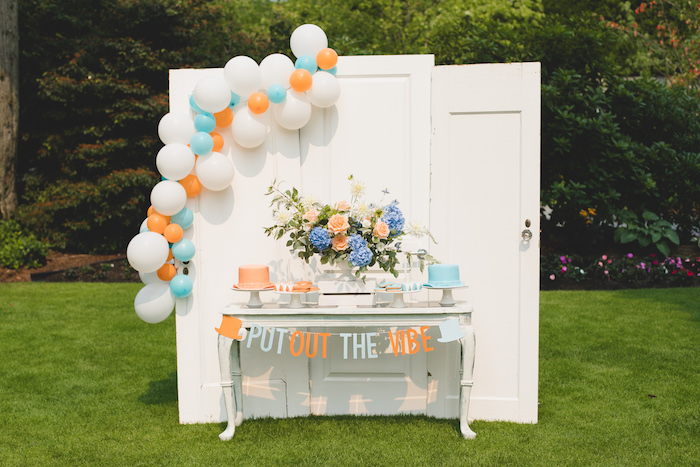 "Snow Owl Benefit Dessert Table from a ""Dumb & Dumber"" Inspired ""Cute & Cuter"" Twins Birthday Party on Kara's Party Ideas 