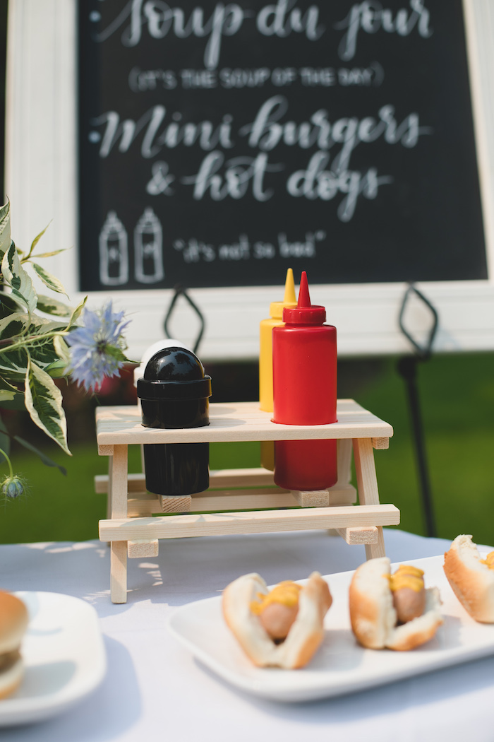 "Condiments from a ""Dumb & Dumber"" Inspired ""Cute & Cuter"" Twins Birthday Party on Kara's Party Ideas 