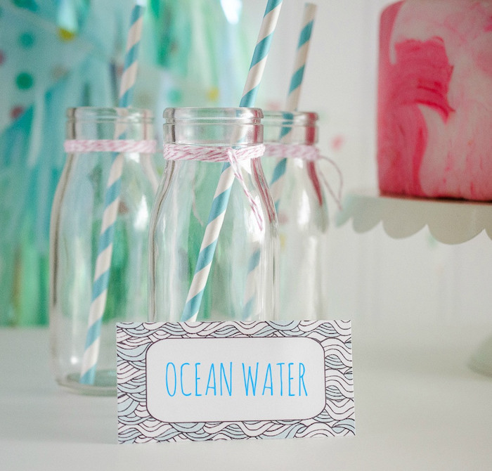 """Ocean water from a """"Party Like a Narwhal"""" Birthday Party on Kara's Party Ideas 