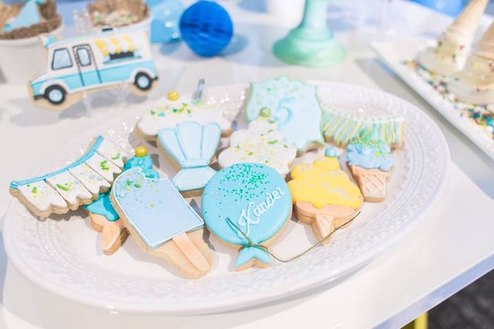 Cookies from a You are the Sprinkles on my Ice Cream Birthday Party on Kara's Party Ideas | KarasPartyIdeas.com (27)
