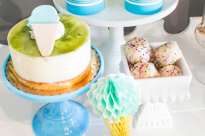 Cake from a You are the Sprinkles on my Ice Cream Birthday Party on Kara's Party Ideas | KarasPartyIdeas.com (17)