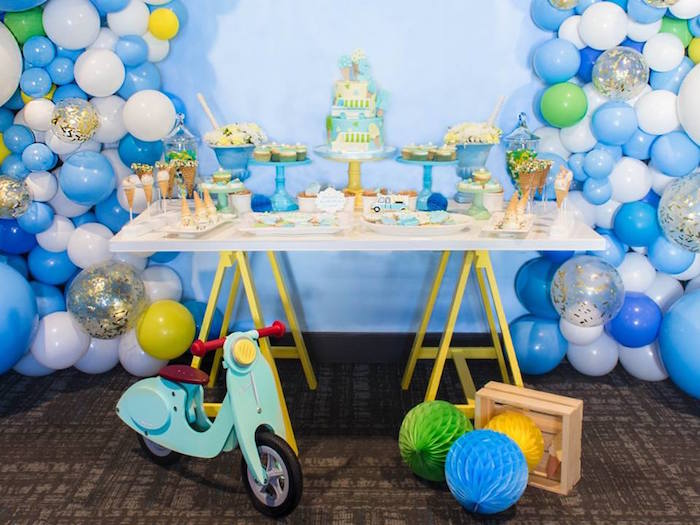 Sweet table from a You are the Sprinkles on my Ice Cream Birthday Party on Kara's Party Ideas | KarasPartyIdeas.com (13)