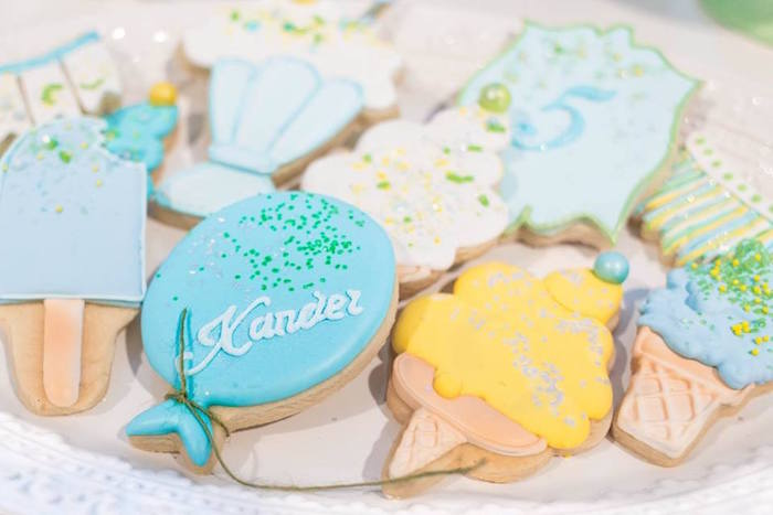 Cookies from a You are the Sprinkles on my Ice Cream Birthday Party on Kara's Party Ideas | KarasPartyIdeas.com (11)