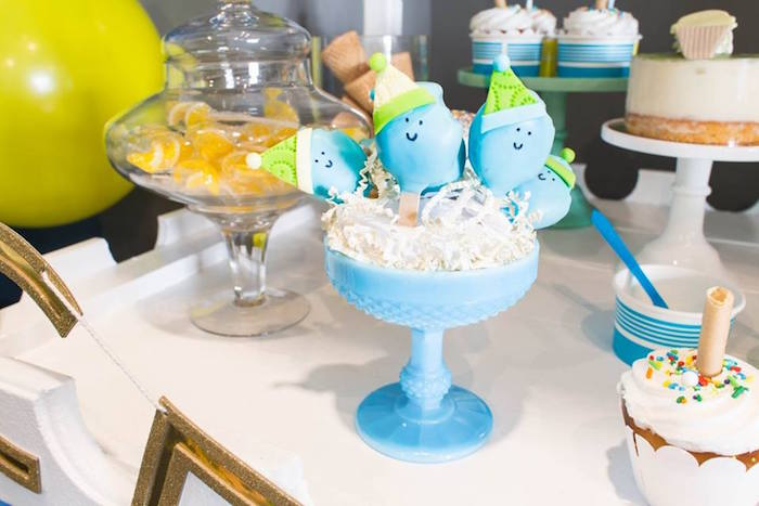 Popsicle cake pops from a You are the Sprinkles on my Ice Cream Birthday Party on Kara's Party Ideas | KarasPartyIdeas.com (36)