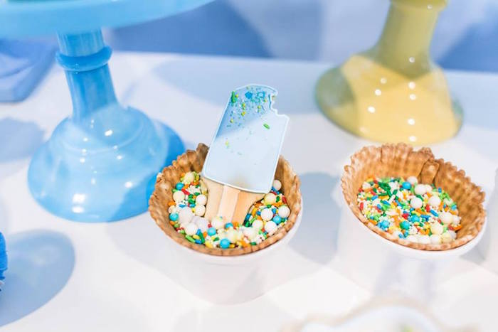 Popsicle cookie and sprinkles from a You are the Sprinkles on my Ice Cream Birthday Party on Kara's Party Ideas | KarasPartyIdeas.com (34)