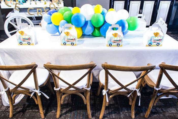 Guest table from a You are the Sprinkles on my Ice Cream Birthday Party on Kara's Party Ideas | KarasPartyIdeas.com (31)