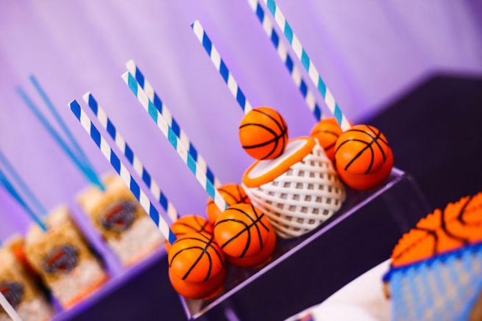 Basketball Thunder Birthday Party on Kara's Party Ideas | KarasPartyIdeas.com (13)