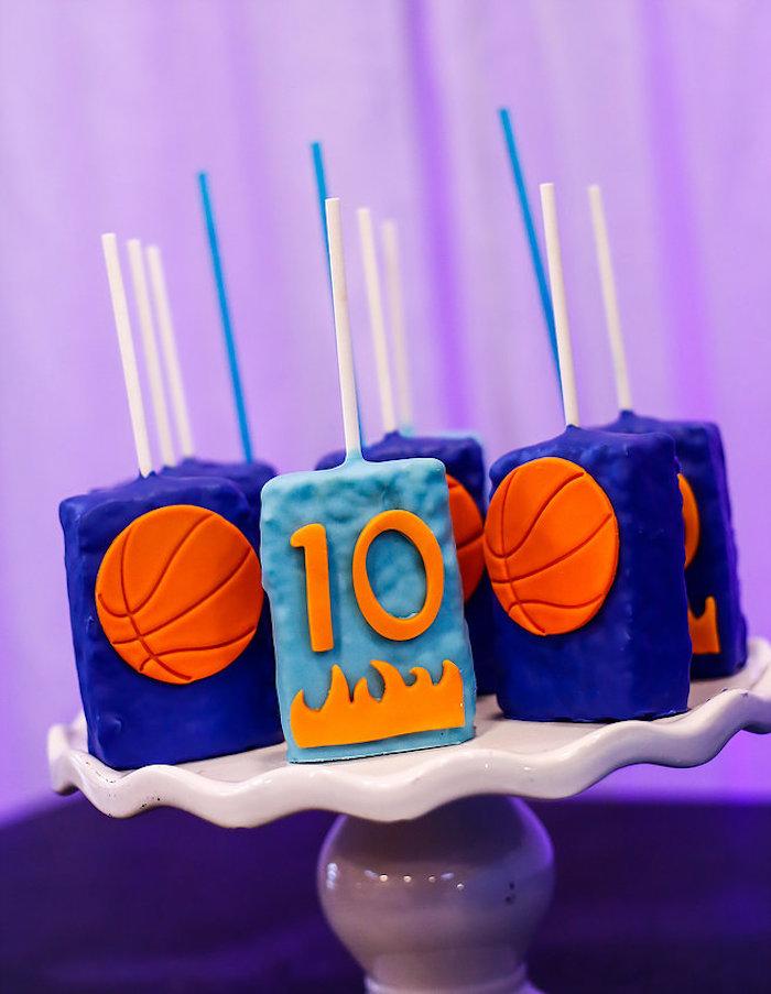 Basketball Thunder Birthday Party on Kara's Party Ideas | KarasPartyIdeas.com (12)