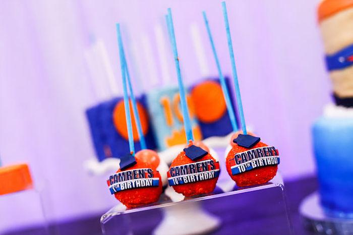 Basketball Thunder Birthday Party on Kara's Party Ideas | KarasPartyIdeas.com (7)