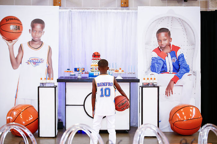 Basketball Thunder Birthday Party on Kara's Party Ideas | KarasPartyIdeas.com (6)