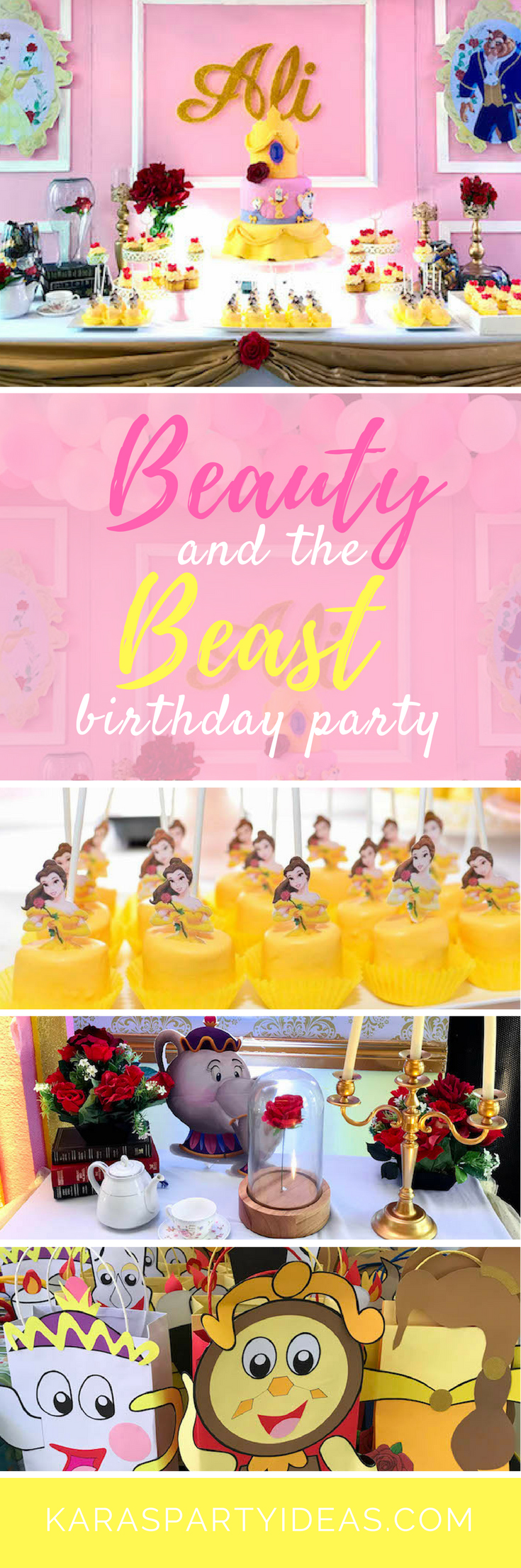 Beauty and the Beast Birthday Party via Kara's Party Ideas - KarasPartyIdeas.com (1)