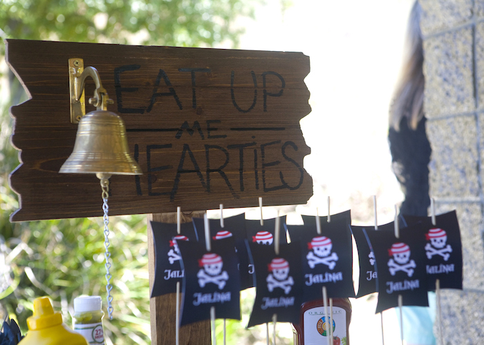 Bell from a Misty Cove Pirate Birthday Party via Kara's Party Ideas | KarasPartyIdeas.com