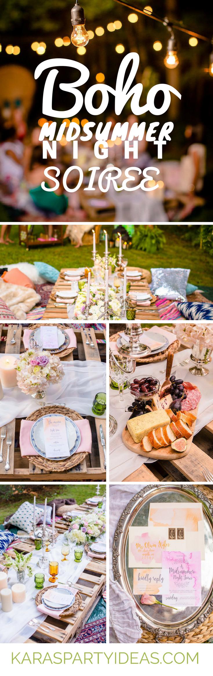 Boho Midsummer Night Soiree via Kara's Party Ideas - KarasPartyIdeas.com
