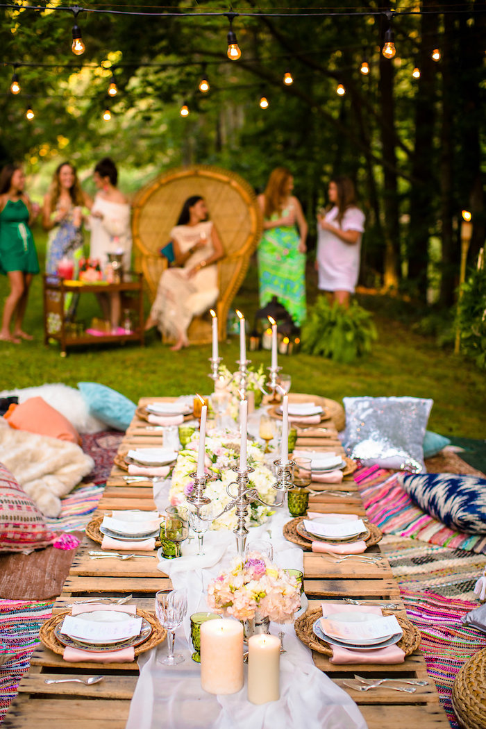 Kara S Party Ideas Boho Midsummer Nights Soiree Kara S